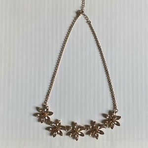 Simple Flower Statement Necklace